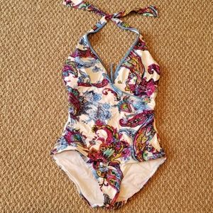Tommy Bahama Size 10 Multi Color Swimsuit